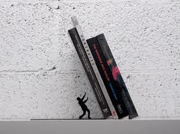 Leaning bookend